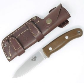 TBS Wolverine Bushcraft Knife - Brown G10